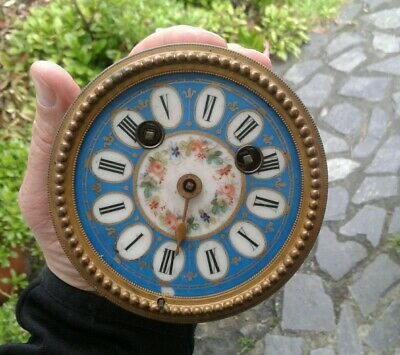Fine Quality Antique Clock Movement With Beautiful Porcelain Dial