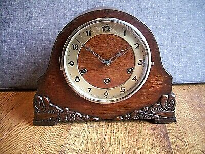 Antique 1920's-1930's German Gufa Oak Westminster Mantel Clock (Key Pendulum)