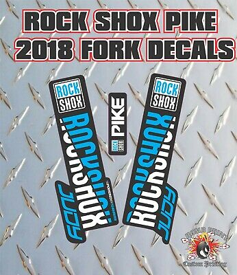 Blue DH Rockshox BOXXER 2018 Style Fork Sticker Decal Graphics Enduro