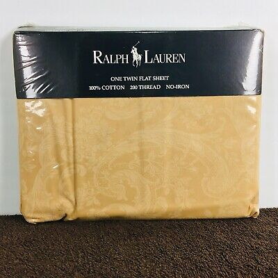Ralph Lauren Avery Cafe Twin Flat Sheet In Package