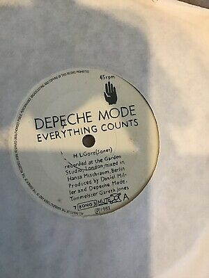 """Depeche Mode - Everything Counts.    used 7"""" vinyl record"""