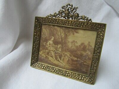 Antique French Ornate Gilt Metal 19th century Photograph frame 1890's