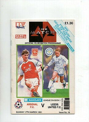 1990-91   ARSENAL  v  LEEDS  ( Big Match Special Issue) 1st Division   1625