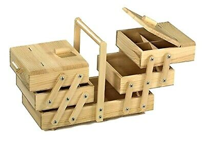 Wooden Sewing Box Large Cantilever Sewing Storage
