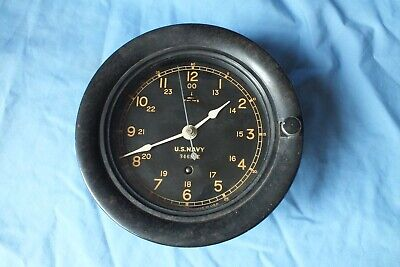 Seth Thomas Us Navy Ww2. 8 Day Ships Clock Working