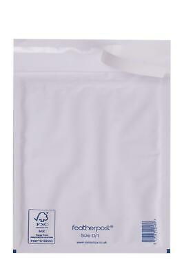 Featherpost Padded Envelopes White Size D, 200mm x 275mm (External), Pack of 50
