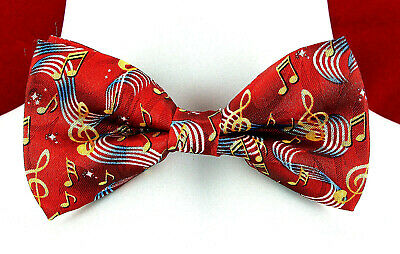 G Clefs Men/'s Music Bow Tie Banded Adjustable Musician Black White Check Bowtie