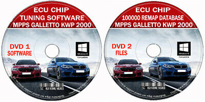 2019 Car Chip Tuning Database 100k Files + Pro Software Remap Galletto Kwp2000 +