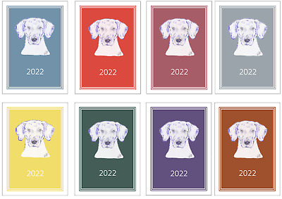 Weimaraner 2020 Large Dog Show Diary with Show Dates in a choice of 7 colours