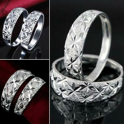 Fashion Gift Ladies Women Wedding Adjustable Ring Silver Plated