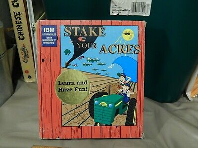 Stake Your Acres [1995, Farm Works Software] IBM/Windows Agriculture Management