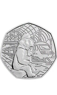 2018 PADDINGTON BEAR STATION 50p COIN UNCIRCULATED