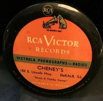RCA Victor Victrola Phonographs & Record Cleaner! NR Dekalb Illinois Cheney's Ad