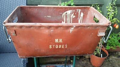 Vintage waxed cardboard commercial / industrial box container crate