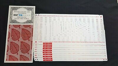 Pc360 Brother Knitting Machine Punch Cards Patterns Series 74 361-370 Jacquard