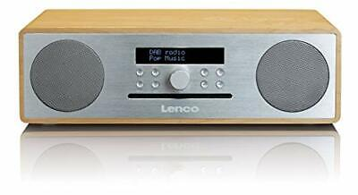 Lenco DAR-070 Numrique 36W Chne, Argent radio CD