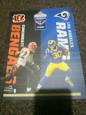 Nfl London Games 2019 Wembley Stadium Cincinnati Bengals Vs Los Angels  Rams