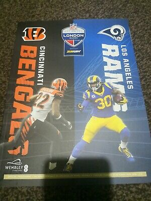 Nfl London Games 2019 Wembley Cincinnati  Bengals Vs Los Angeles Rams Programme