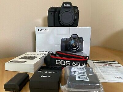 Canon EOS 6D Mark II 26.2MP Digital SLR Camera + additional battery charger!!