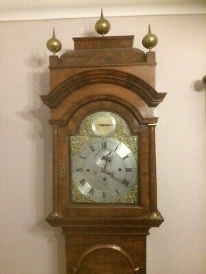 Walnut longcase clock by james freeman london