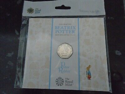 UK Royal Mint 2017 Beatrix Potter Peter Rabbit 50p Fifty Pence Coin Pack BU New