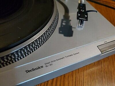 TECHNICS SL-D2 CLASSIC TURNTABLE w/DUST COVER and NEW CARTRIDGE - WORKS WELL!
