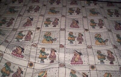 Great Baby Quilt  squares of country girl  bunnies