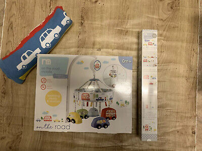Mothercare On The Road Wall Stickers / Blanket / Cot Mobile Bundle Sold Out 🚗