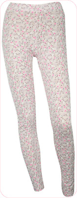 PINK FLORAL SIZE 8 to 12 Lightweight Soft Jersey Printed Summer Leggings NEW