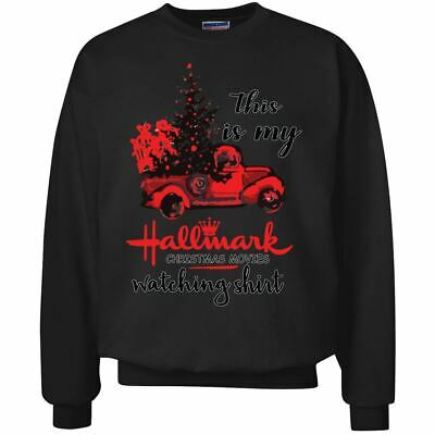 This Is My hallmark Christmas Movie Watching Shirt | Mens Ugly Christmas Crewnec