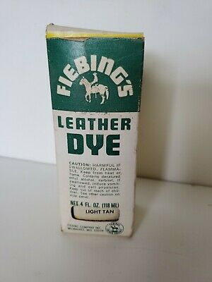 Vintage Fiebing's Light Tan Leather Dye with Box and Applicator
