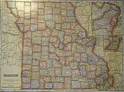 Vintage 1929 MISSOURI MAP Old Original & Authentic Atlas Map ~ Quick N Free