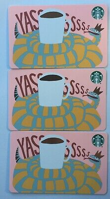 "Lot 3 Starbucks ""SANTA & REINDEERS"" Christmas 2019 Recycled Paper Gift Card set"