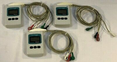 Lot of 3 Quinton X12+ Wireless EKG ECG Transmitter with Leads
