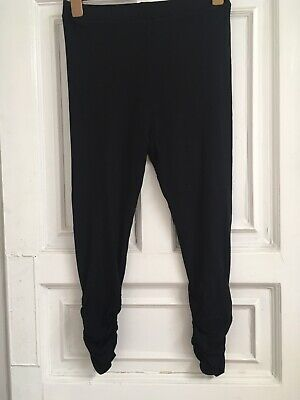 Maternity Black Ruched Leggings, Size S