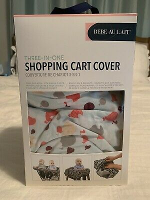 Bebe Au Lait Shopping Cart High Chair Cover Fits 1-2 Babies