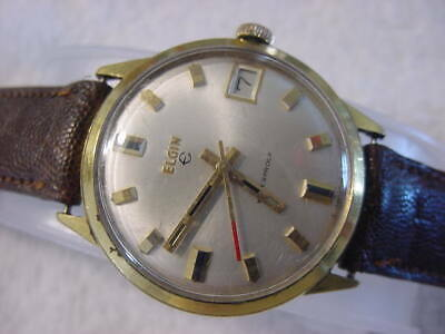 Vintage GOLD FD large antique Art Deco ELGIN mens watch