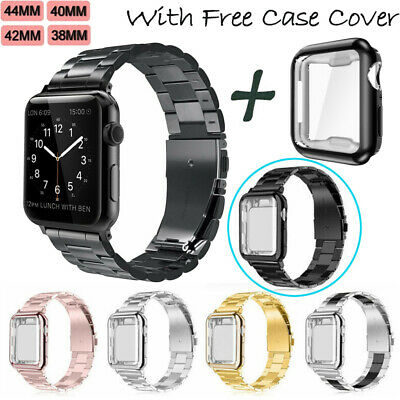 Stainless Steel iWatch Band Wrist Strap For Apple Watch Series 4/5 40mm 44mm