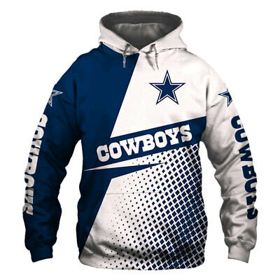 2019 Dallas Cowboys Hoodie Hooded Pullover Sweatshirt S-5XL Football Team Fans