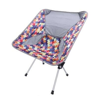 2X(Tragbare Outdoor Klapp Mond Stuhl Camping StüHle Strand Angeln UltraleicY6L3)