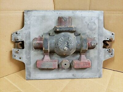 """Vintage Industrial Wood Foundry Mold Pattern 21"""" x 15"""" x 5"""" Double Side"""