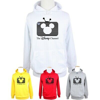 The Disney Channel Mickey Mouse Print Sweatshirt Unisex Hoodie Graphic Hoody Top