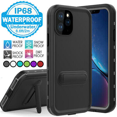 For iPhone 11 Pro X XS Max Case Cover Slim Waterproof Screen Protector Kickstand