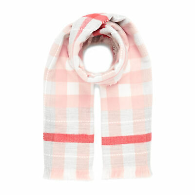 Joules Stamford Womens Accessory Scarf - Pink Check One Size