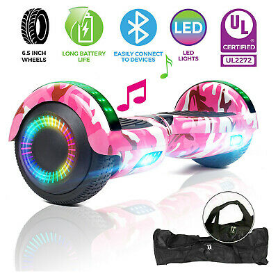 "6.5"" All Terrain Hoverboard Bluetooth Electric Self Balancing Scooter UL2272+Bag"