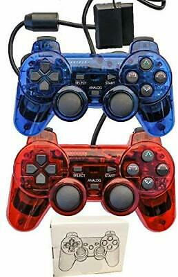 Wired Controller For PS2 Playstation 2 Dual Shock Gamepad Joystick With Sensitiv