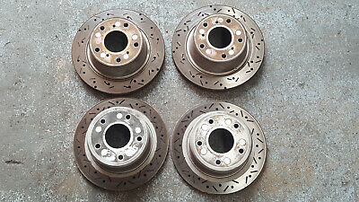 Holden Commodore Vr Vs Front And Rear Drilled And Slotted Brake Rotors V8 Ss