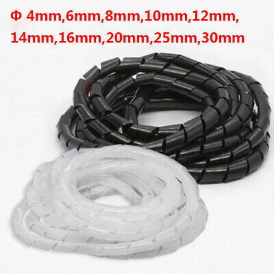 Spiral Cable Wrap Organising Wire Management Tidy Φ 4/6/8/10/12/14/16/20/25/30mm