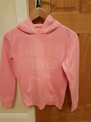 Girls Dunne stores pink hooded sweatshirt. Age 11-12.