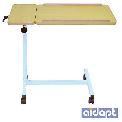 Aidapt Deluxe Height Adjustable Tilting Multi Purpose Overbed  Bed Chair Table
